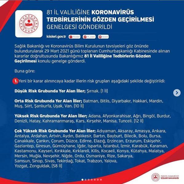 Sayın Üyelerimiz; Koronavirüs Tedbirlerinin Gözden Geçirilmesi Genelgesi kapsamında yapılan değişiklikler için tıklayınız.